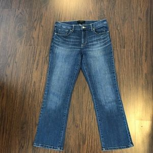Banana republic jeans flare crop women's size 28